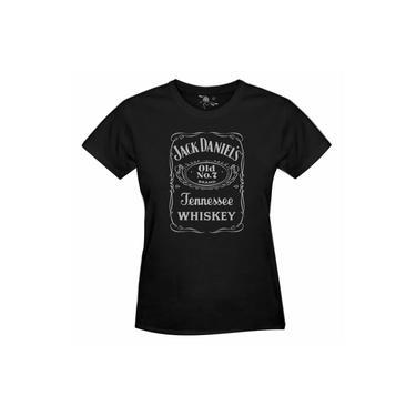 Camiseta Jack Daniel'S Estampa Prata - Feminina
