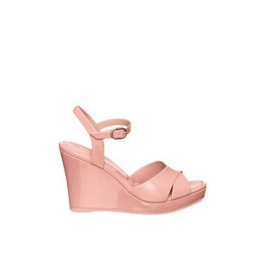 Sandália anabela petite jolie feminina PJ5134 rosa antigo