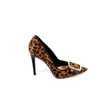 Cecconello Sapato Scarpin Animal Print Salto Fino