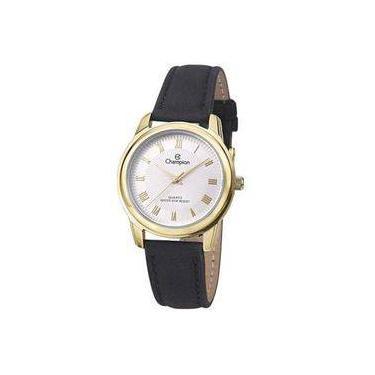 6430fe5b8a8 Relógio Analógico Feminino Champion Social CH24651B - Pulseira de Couro