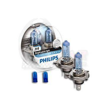 Lâmpada Super Branca Crystal Vision Ultra H4 Philips