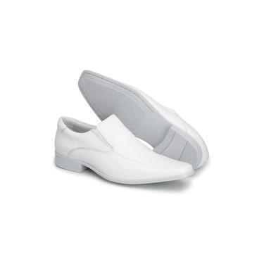 Sapato Social Masculino Bico Fino Em Couro Branco Indicado Para Enfermeiro Dentista Médico 261
