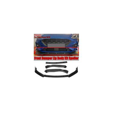 Pára-choques dianteiro do carro Bumper Lip Difusor Defletor Preto Brilhante Pára-choques dianteiro do carro Lip Body Kit Splitter Spoiler Para Ford For Focus 2019