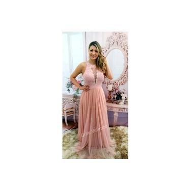 Vestido De Festa Rose Longo - Madrinha, Casamento Formatura Luxo