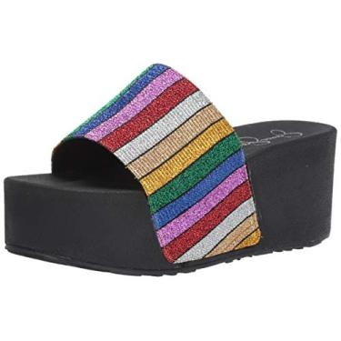 Jessica Simpson sandália feminina Faille Slide, Multi, 10