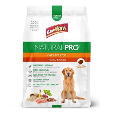 Ração Baw Waw Natural Pro para cães adultos sabor Frango e Arroz - 10,1kg
