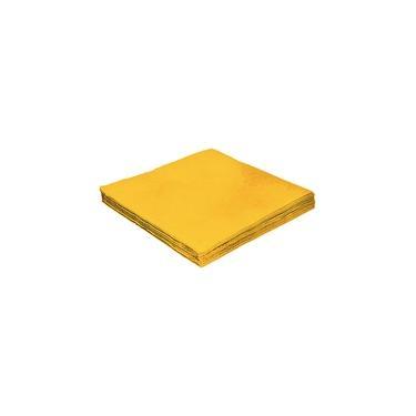 Guardanapo de Papel Folha Dupla Amarelo 24x24cm Silver Festas