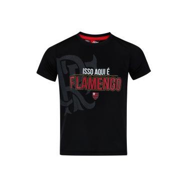 e3e6afb9f753d Camiseta do Flamengo Orgulho - Infantil - PRETO Braziline