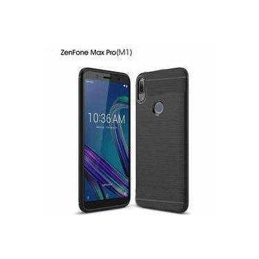 Capa Carbon Preta Asus Zenfone Max Pro M1 Zb602kl