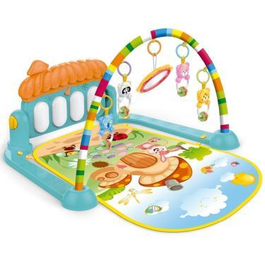 Imagem de Tapete de Atividades para Bebê Piano Teclado Musical Interativo com Mobile Importway BWTIP001