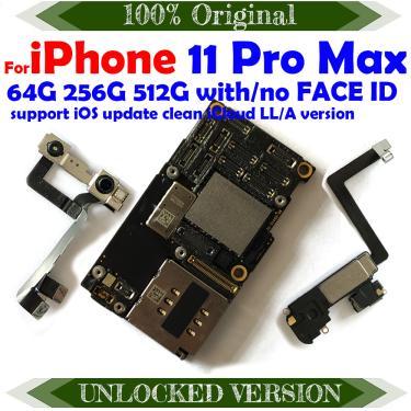 512gb 256gb 128gb fábrica desbloqueado limpo icloud para iphone 11 pro max mainboard ios atualização