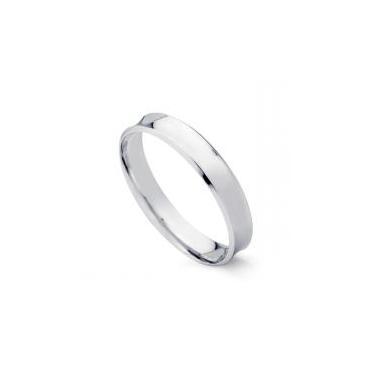 c794172c0df Aliança de Casamento em Ouro Branco 18k Concava 4