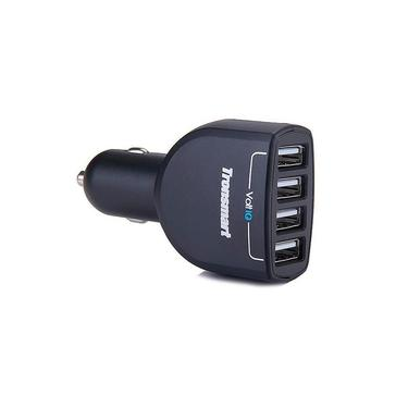 Carregador para carro, 4 portas, modelo TS-CC4P1, tecnologia VoltlQ, suporta iPhone e Ipad, marca Tronsmart