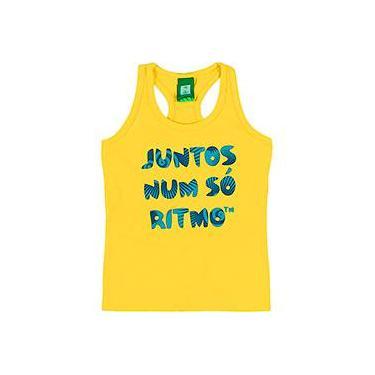 Blusa Regata Amarelo Ouro Feminina - Copa do Mundo da FIFA 2014