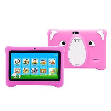 Imagem de Tablet infantil de 7 polegadas, tela sensível ao toque Quad Core, 1 GB de RAM + 16 GB de ROM, WiFi, Bluetooth, câmera dupla, educação, jogos, controle parental, software infantil pré-instalado com capa para tablet infantil