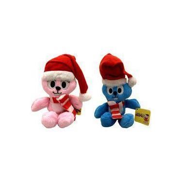 Imagem de Kit Pelúcias Pequenas Coelhos Azul E Rosa Turma Da Mônica De Natal Multibrink : Sansão + Dalila