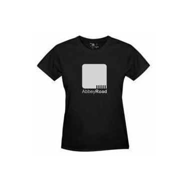 74c91927608b5 Camiseta Abbey Road The Beathes Estampa Prata - Feminina