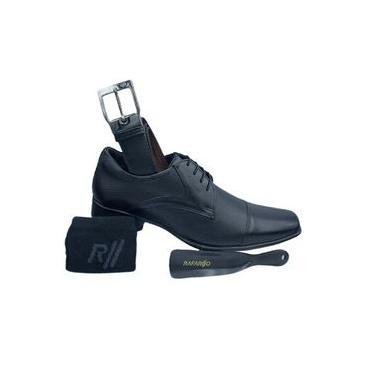 Sapato Social Rafarillo Kit 4 em 1 Couro Masculino