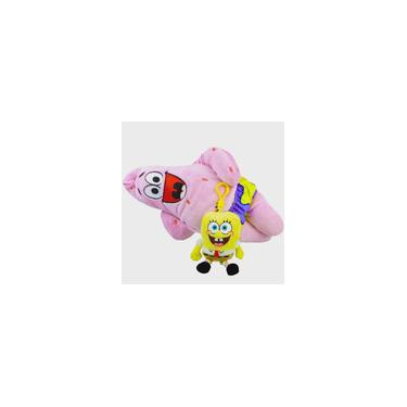 Imagem de Boneco De Pelúcia Patrick E Bob Esponja Chaveiro Nickelodeon