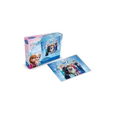 Imagem de Jogo Quebra Cabeça Infantil Frozen Madeira Puzzle 60 Peças Divertido Criança Raciocínio