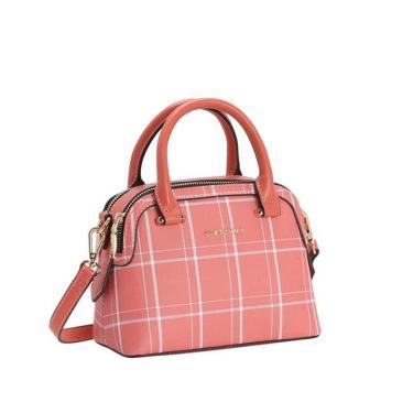 Bolsa Feminina Chenson Xadrez Lady Coral 3483205  feminino