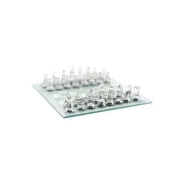 Jogo de xadrez De Vidro 25 x 25 CM