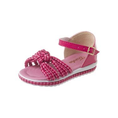 Sandália Tininha Menina Nó Pink  menina