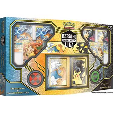 Imagem de Batalha de Liga Pokémon Pikachu e Zekrom & Charizard e Reshiram, Copag, Estampado