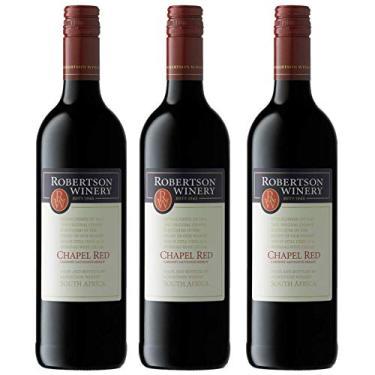 Kit 3 Vinho Tinto Sul-Africano Robertson Cabernet Sauvignon/Merlot 2017