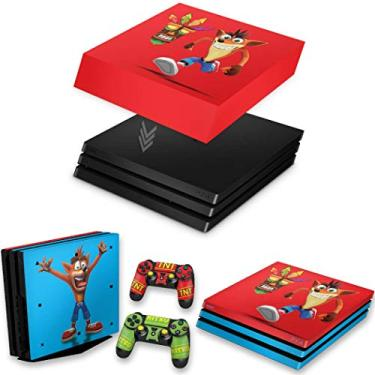 Capa Anti Poeira e Skin para PS4 Pro - Crash Bandicoot