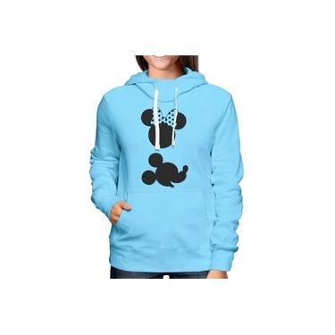 Blusa Moletom Feminino Estampa Minnie & Mickey