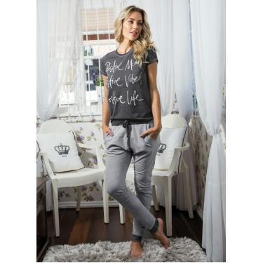 acf1412be Pijama Longo Mescla Christian Gray CHRISTIAN GRAY