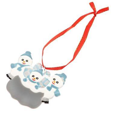 Imagem de BESPORTBLE Tema de Natal Boneco de Neve Bonito Árvore de Natal Pingente De Natal Decoração Ornamentos Adequado para Outros Lugares Carros (Três)