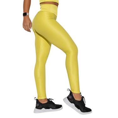 Imagem de Legging Fitness Amarela Canelada Luminous LG1340.1.G Amarelo