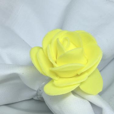 Imagem de Porta Guardanapo Botão de Rosa EVA (Amarelo Confeti) - 4 unidades