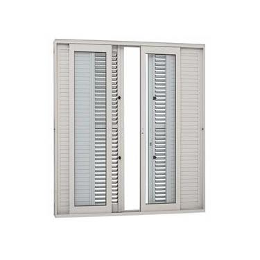 Porta Balcão de Correr Alumínio Sasazaki 6 Folhas Multiflex Vidro Temperado Aluminium 216,5cmx250,5cm Branco