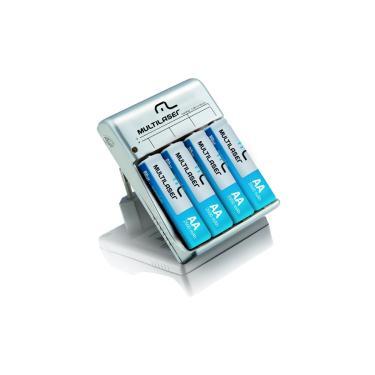 Carregador de Pilhas Multilaser AA/AAA - com 4 pilhas AA 2500mAh - CB054