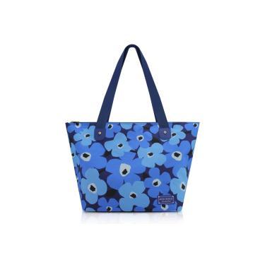 Bolsa Sacola Jacki Design Papoula Azul  feminino