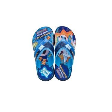 Chinelo Infantil Lucas Neto Azul/azul Grendene 22154