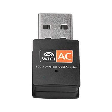 Btuty Adaptador Wireless USB Wifi Dual Band 600Mbps 2.4G + 5G Antena 802.11a / b/g/n/c