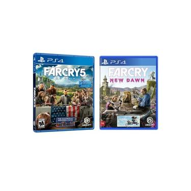 Jogo Far Cry 5 + Far Cry New Dawn PS4 (Dublado em Português)