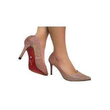 Sapato Scarpin Luxor Champagne