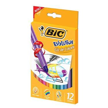 Giz de Colorir Retrátil BIC Evolution, 742987, 12 cores