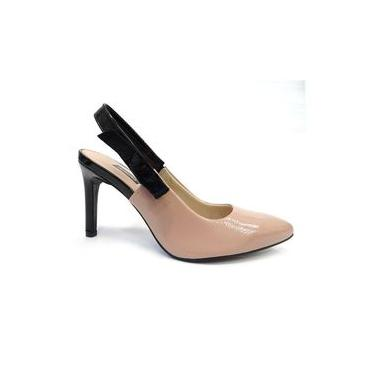 Sapato Chanel Slingback B9813 - Dakota (42) - Bege/preto