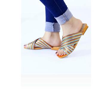 Rasteira Multicolor Le scarpe di Bruna Multicolorido  feminino