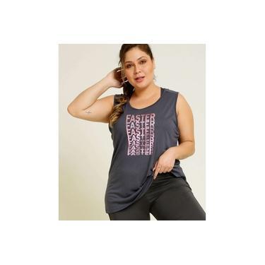 Blusa Regata Plus Size Feminina Fitness Marisa