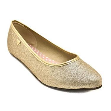 Sapatilha Menina Molekinha Glitter Dourado