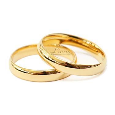 Imagem de Par de Alianças Casamento Tungstênio Banhada a Ouro 18k