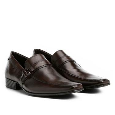 Sapato Social Couro Shoestock Fivela Masculino - Masculino Café 23b70dd2b7d