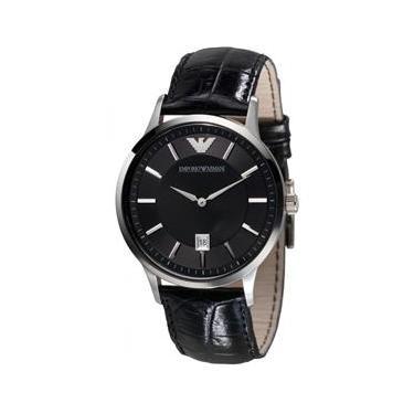 Relógio Masculino Emporio Armani Modelo AR2411 Pulseira em Couro   A prova  d  água 46131f1989
